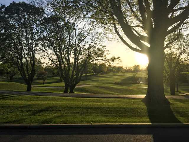 A view of a tee at Meadowbrook Country Club.