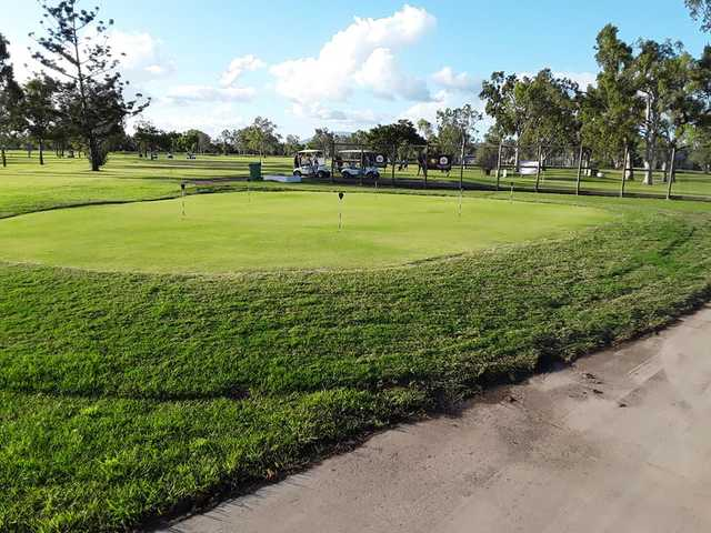 View of the puttin green at Proserpine Golf Club