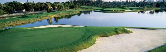 A view of a 16th green at Miami Beach Golf Club