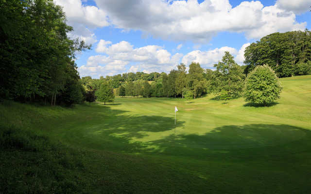 View of the 7th green at West Kent Golf Club.