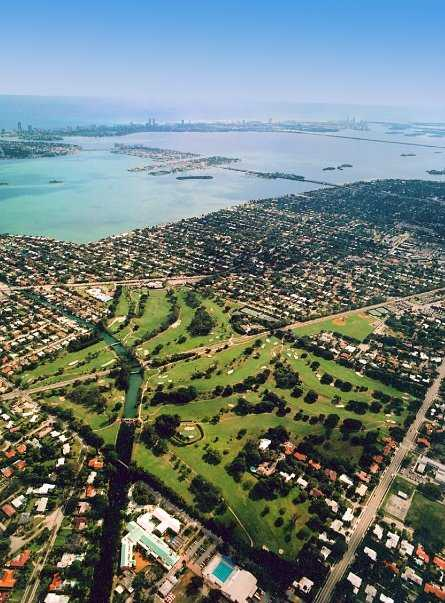 Aerial view of Miami Shores Country Club