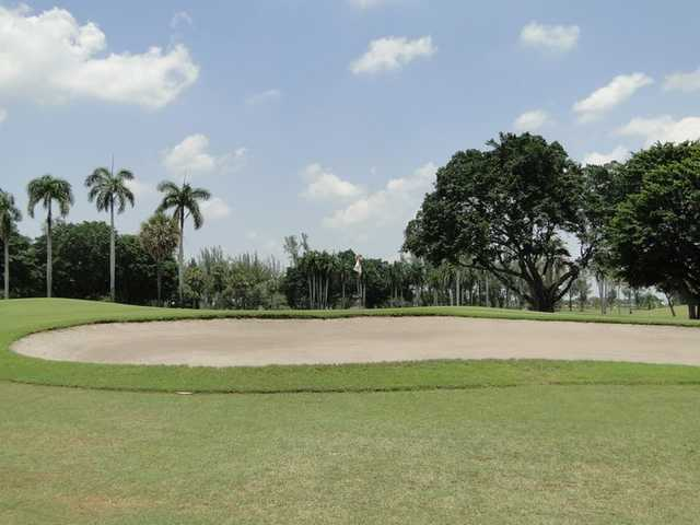 A view of the 9th hole at The Senator Course from Shula's Golf Club.