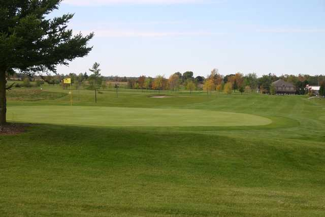 Looking back from the 1st green at Westminster Trails Golf Club