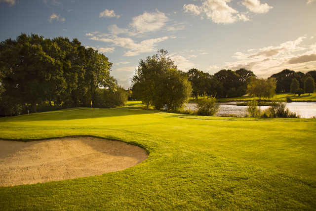 View of a green at Crane Valley Golf Club