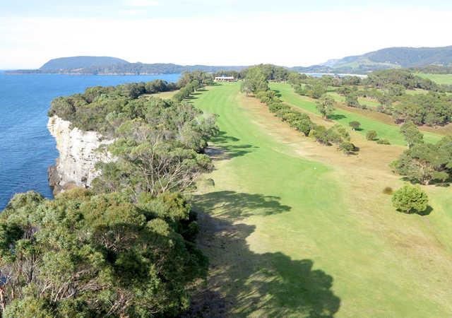 Aerial view from Tasman Golf Club