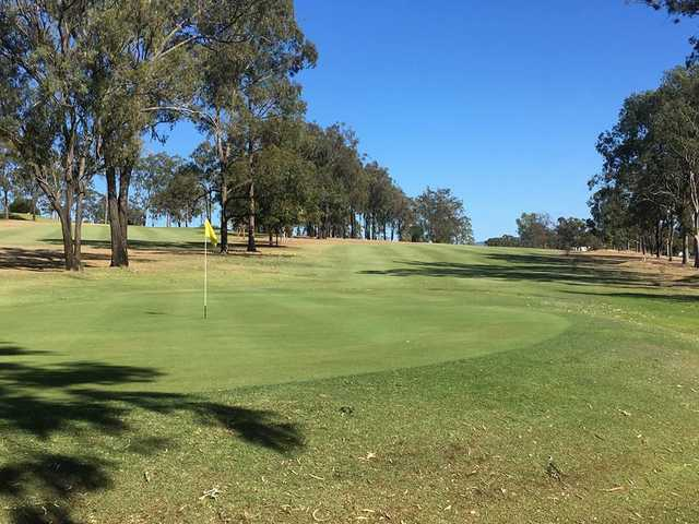Looking back from a green at Gatton Jubilee Golf Club