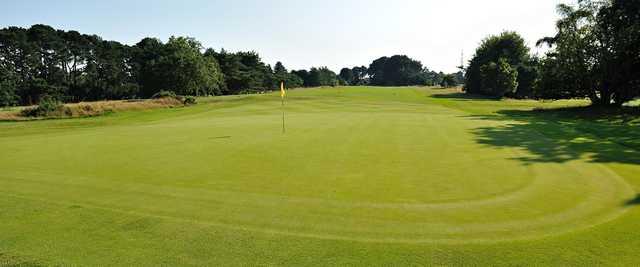 A view of hole #16 at Knighton Heath Golf Club.