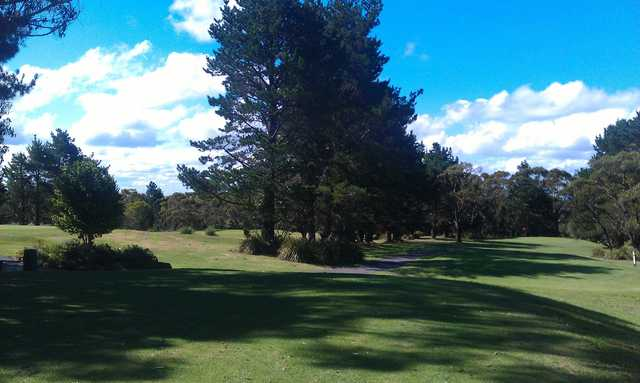 A view of a fairway at Boomerang Public Golf Course.