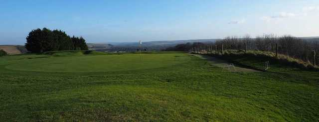 A view of the 10th hole at West Wilts Golf Club.