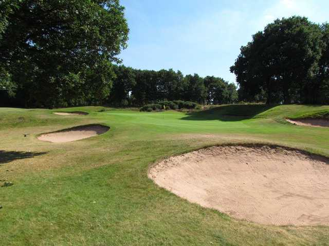 A view of the 4th green at Whittington Heath Golf Club.