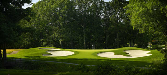 View of the 4th green at Point O'Woods Country Club