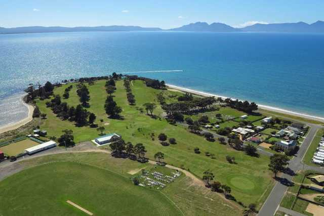 Aerial view from Swansea Golf Club
