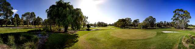 Panoramic view from Wynnum Golf Club