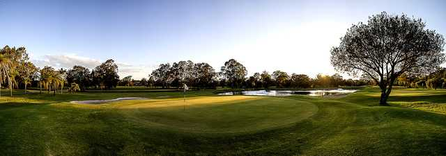 Panoramic view of a green at Wynnum Golf Club