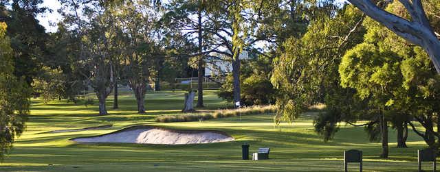 View of a green at Wynnum Golf Club