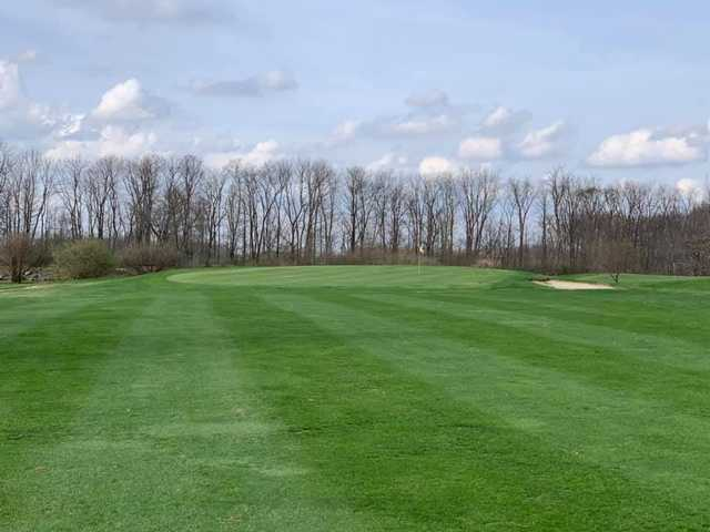 A view of the 1st green at Elks 797 Golf Club.