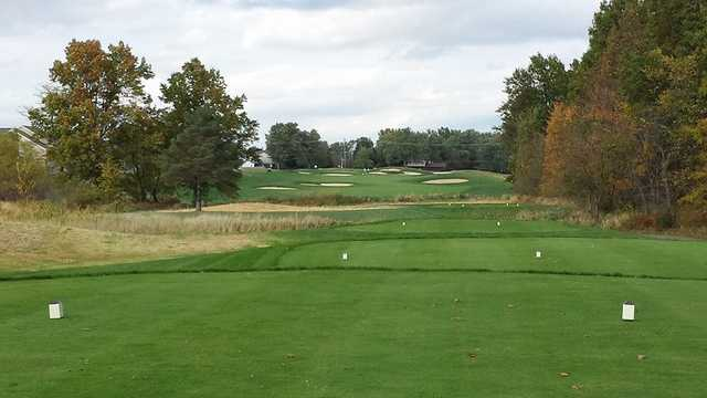 A view from a tee at New Albany Links Golf Club.