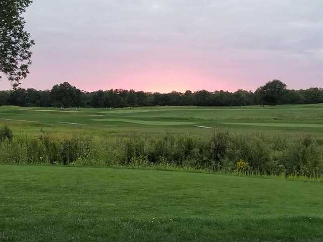 A summer day view from Majestic Springs Golf Course.