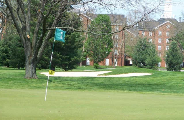 A view of the 2nd hole at Ohio University Golf Course.