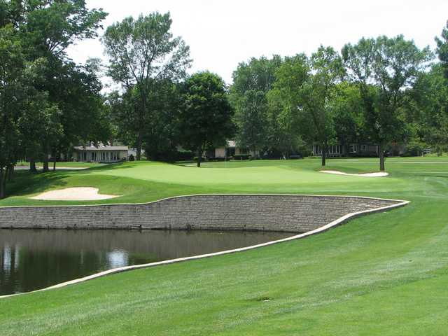 A view of a well protected hole at Worthington Hills Country Club.