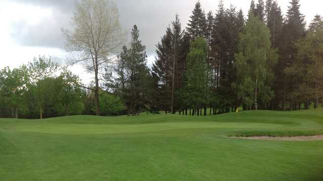 A view of the 3rd green at Borris Golf Club.