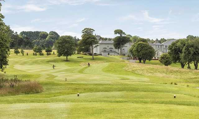 A view from a tee at Glenlo Abbey Golf Club.