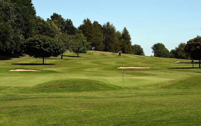 A view of a hole at Killymoon Golf Club.