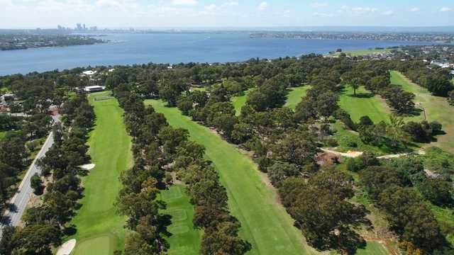 Aerial view from Point Walter Golf Course