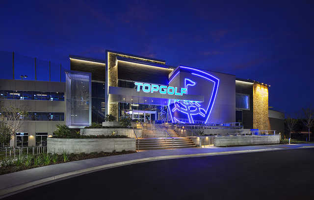 Topgolf Jacksonville by night