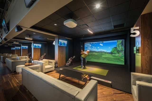 A view from Loft18 Premier Indoor Golf