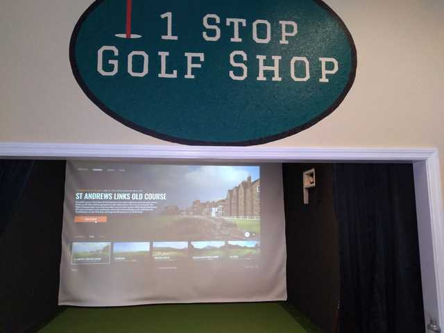 View from 1 Stop Golf Shop.